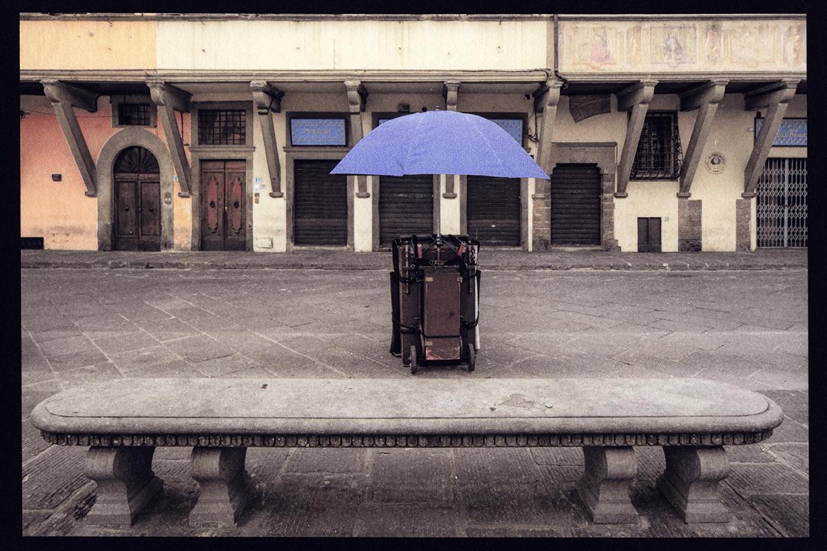Purple Umbrella, Florence, Italy, 2018