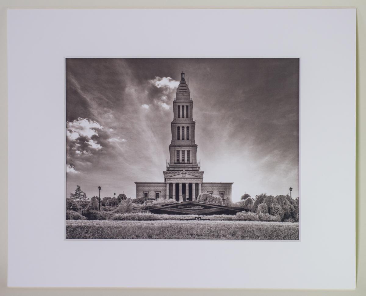 Sun Setting on George Washington Masonic Memorial