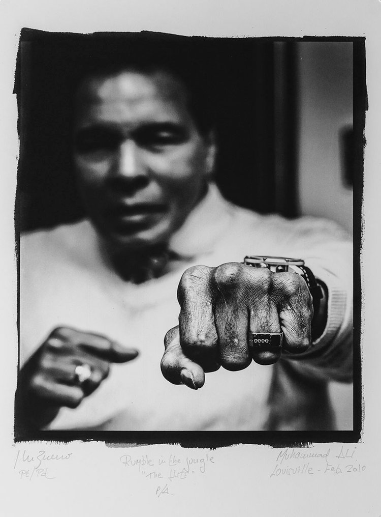 "Rumble n the Jungle ""The Fists"" M. Ali"