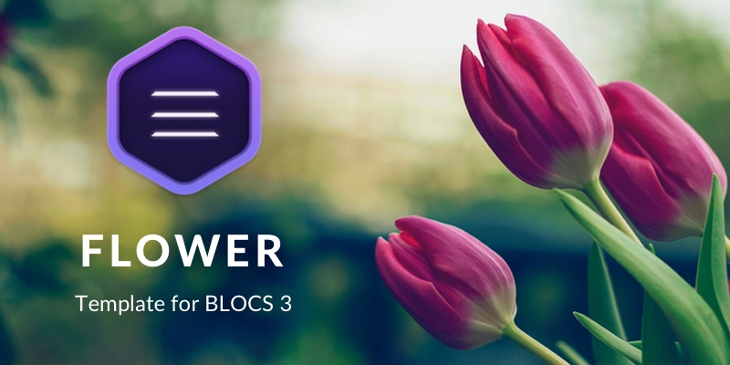 Flower is the latest template I have built using Blocs 3.
