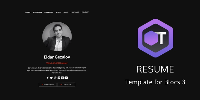 Resume is the second template with SMART capabilities, previously available only in Event template.