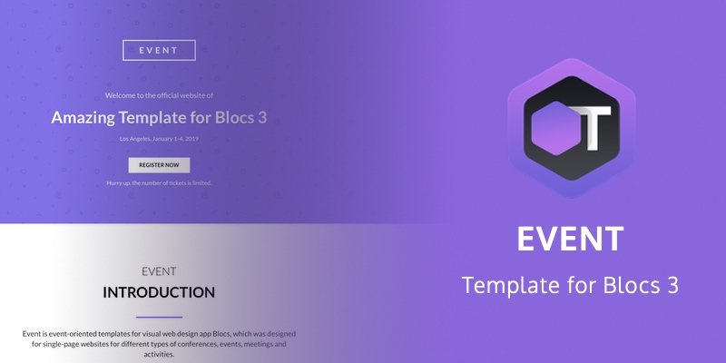 Event Template for Blocs 3 is even better than its previuos version.