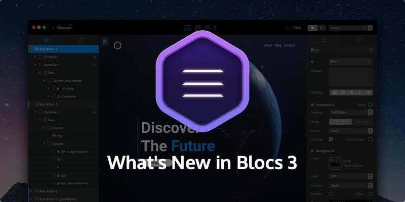 Blocs 3 for Mac is an amazingly powerful tool for visual web design.