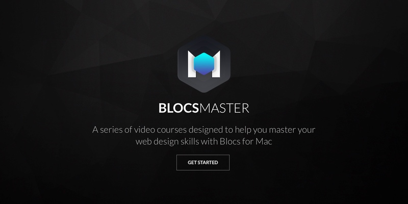 Upon release Blocs Master website has a stylish dark theme.
