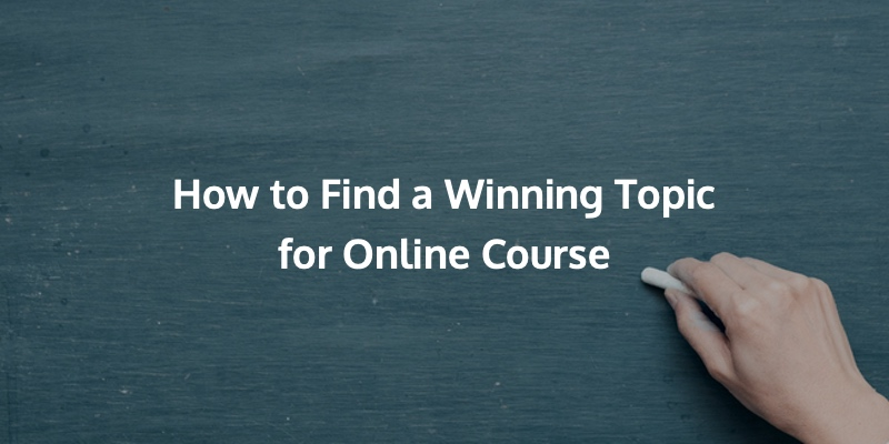 Finding a profitable topic idea is very important when it comes to creating a successful online course.