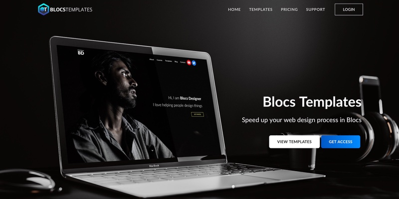New Blocs Templates interface has a beautiful and elegant style.