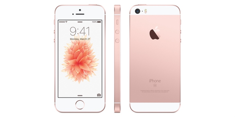 iPhone SE in Rose Gold. Image Source: Apple.com