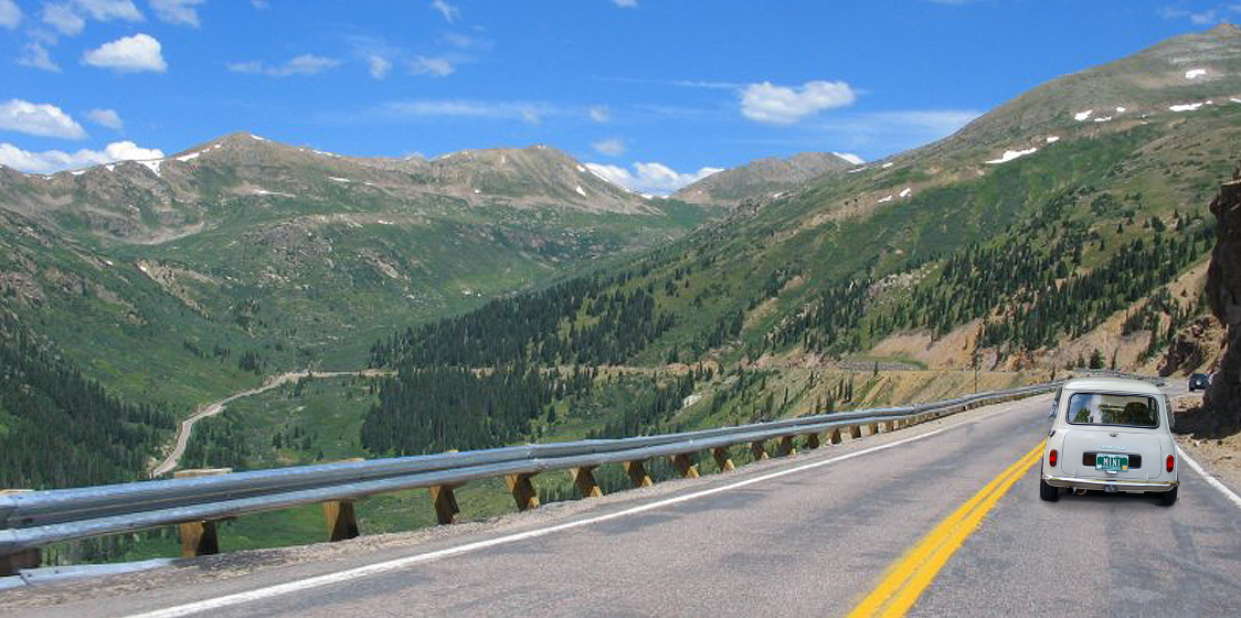 Independence Pass road (lots of sections with no guardrails!)