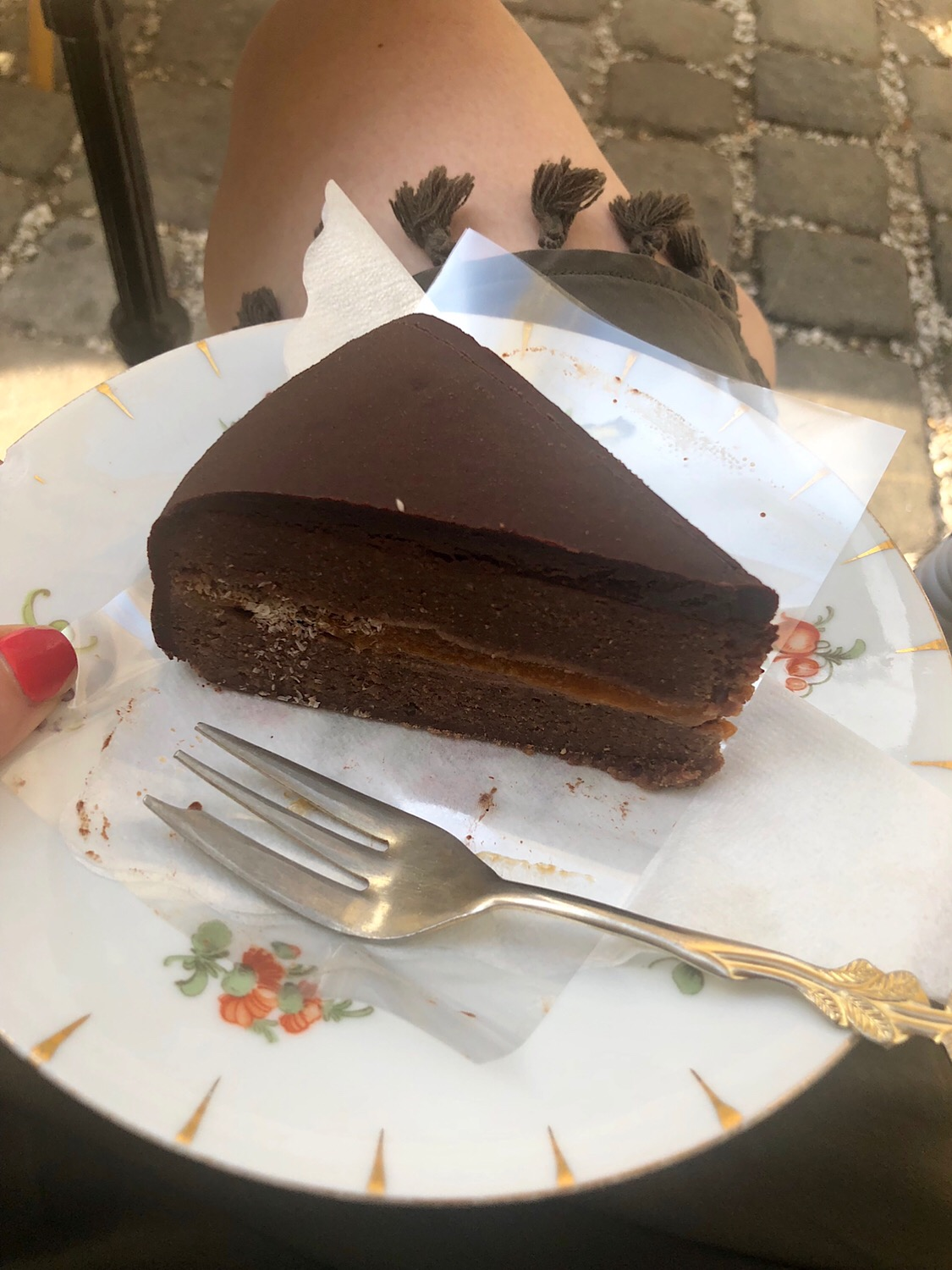 The raw version of a Sachertorte (the famous Austrian chocolate cake) at Simply Raw Bakery 🥰 🥰🥰10/10