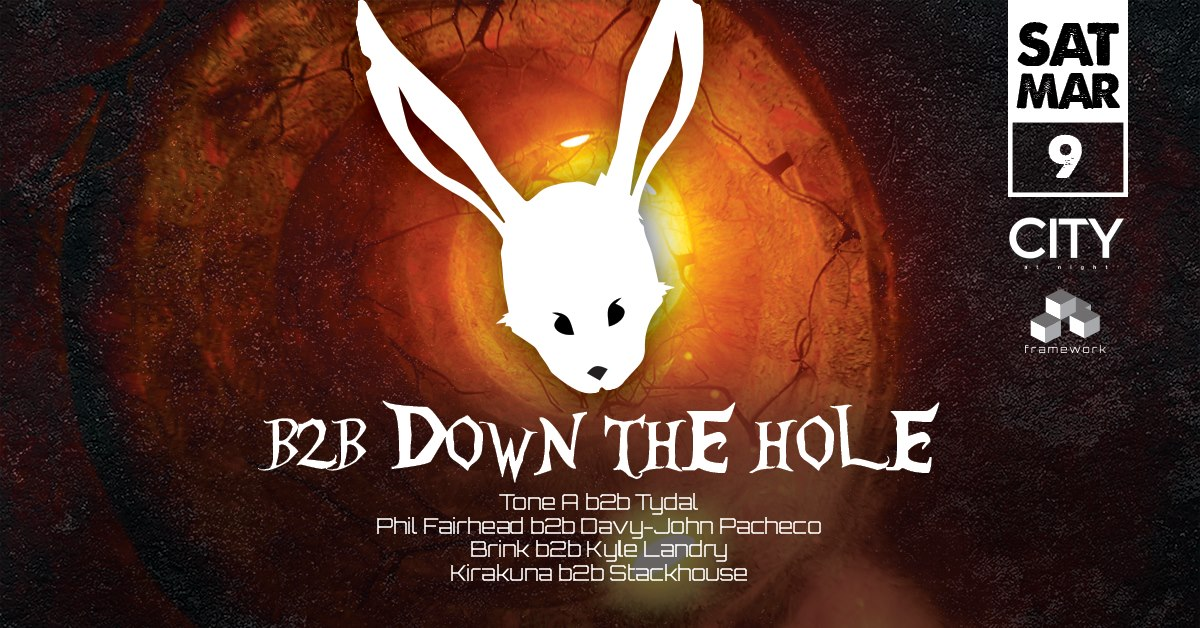 White Rabbit: B2B Down the Hole - Dancing 11pm to 6am
