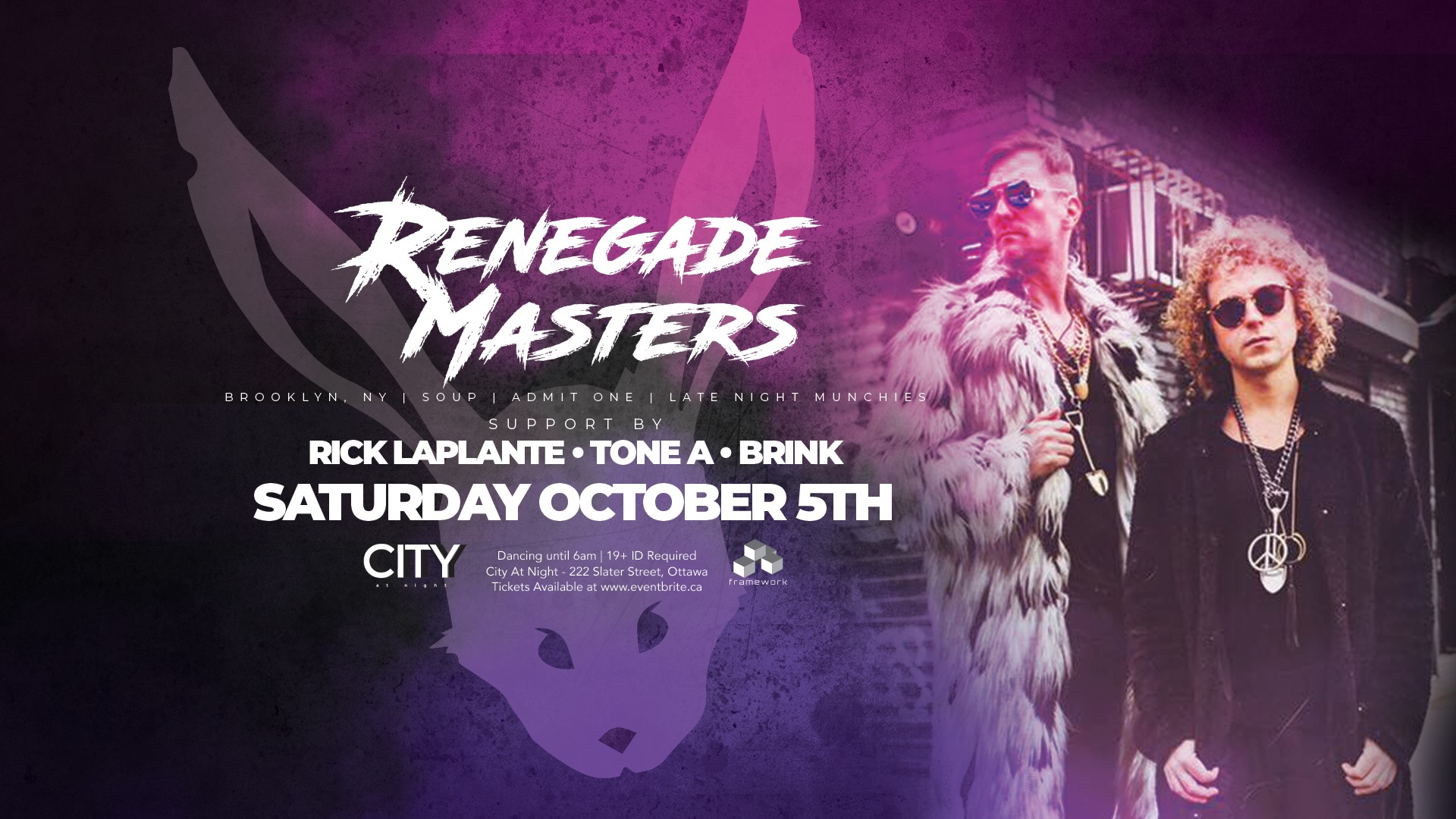 White Rabbit - Renegade Masters - Dancing 11pm to 6am