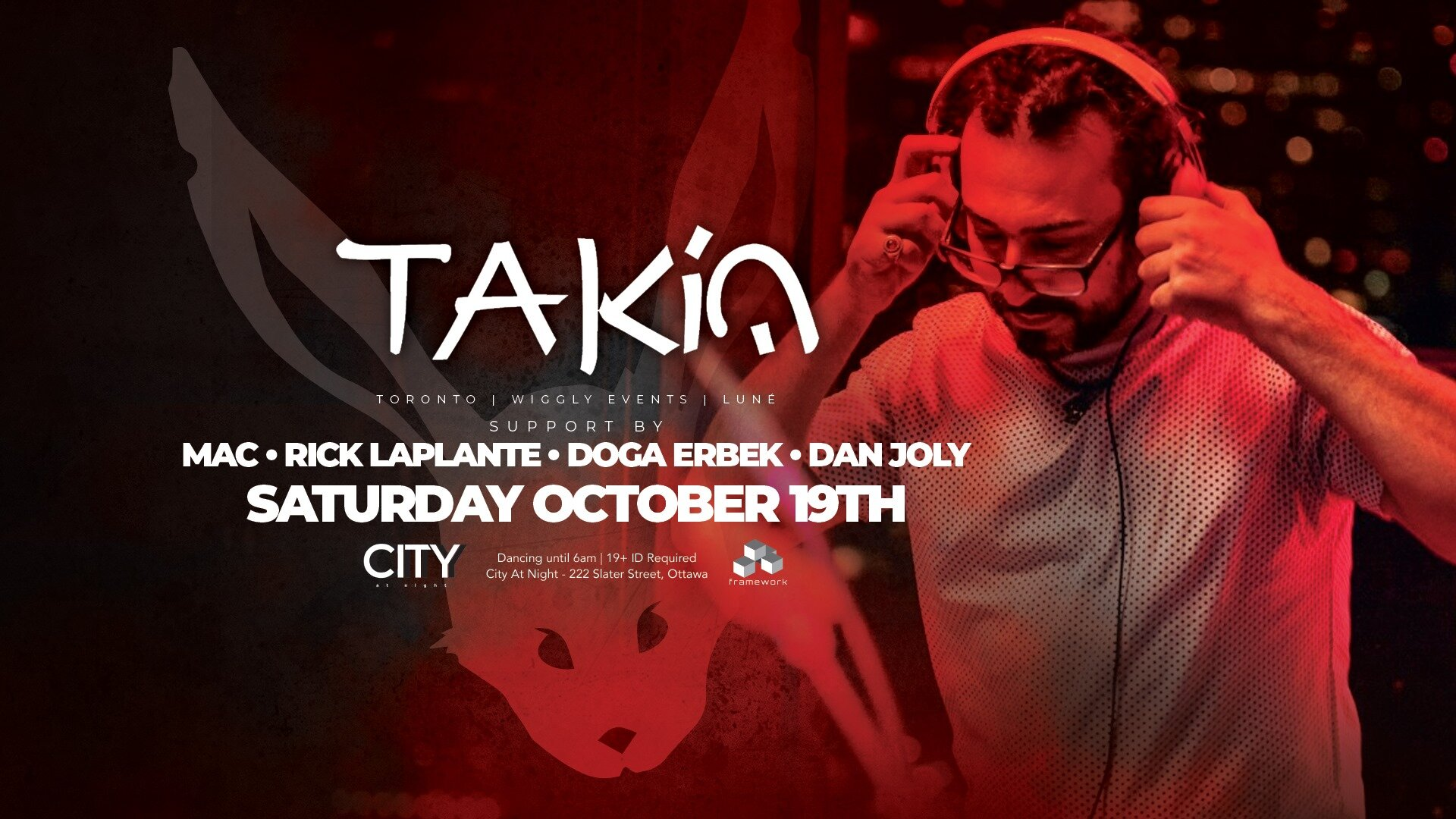 White Rabbit: TAKiN - All Night Dancing 11pm to 6am