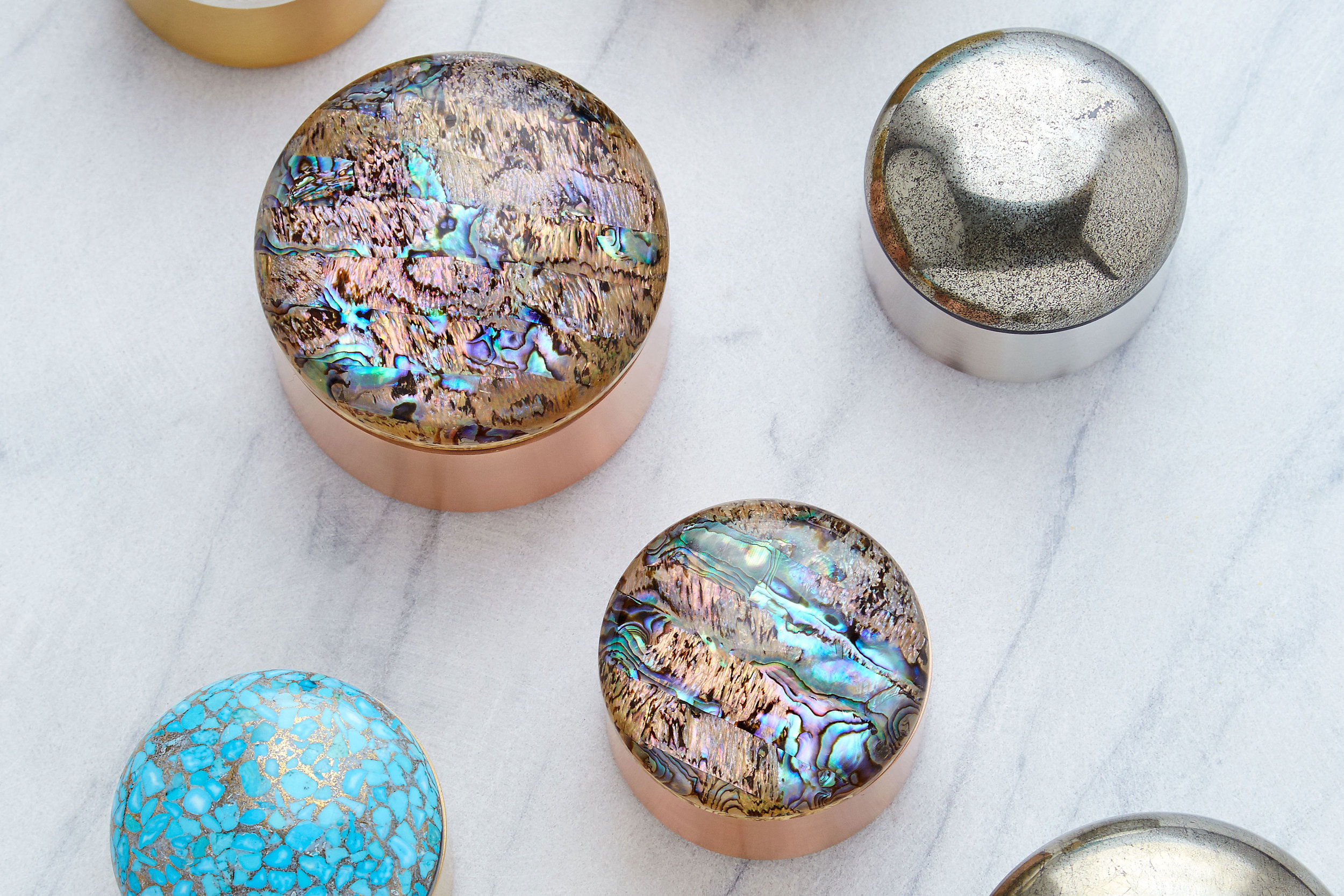 Rose Gold and Abalone Shell Storge