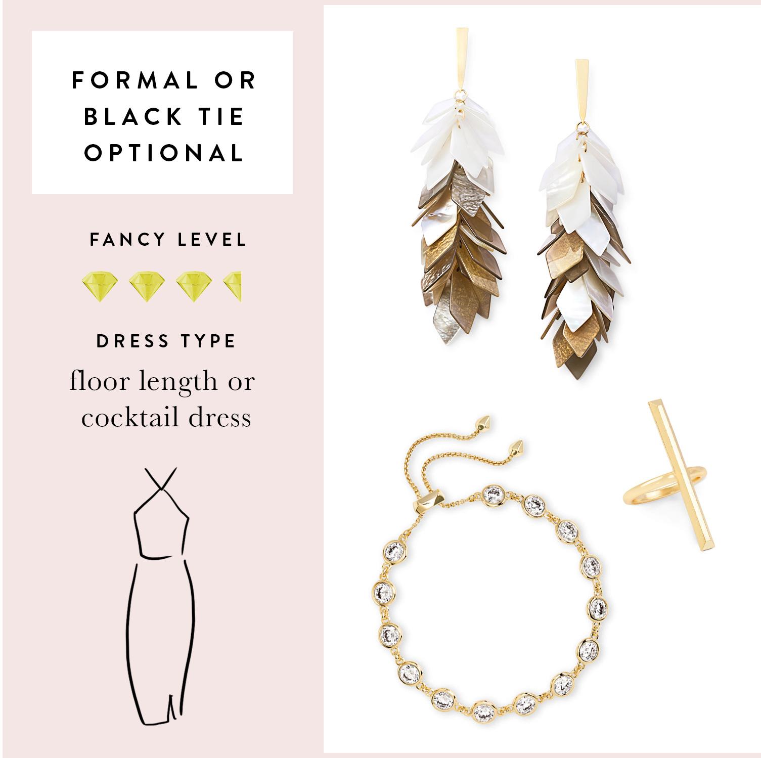 Jennifer Statement Earrings, Reggie Cocktail Ring, Charlize Link Bracelet