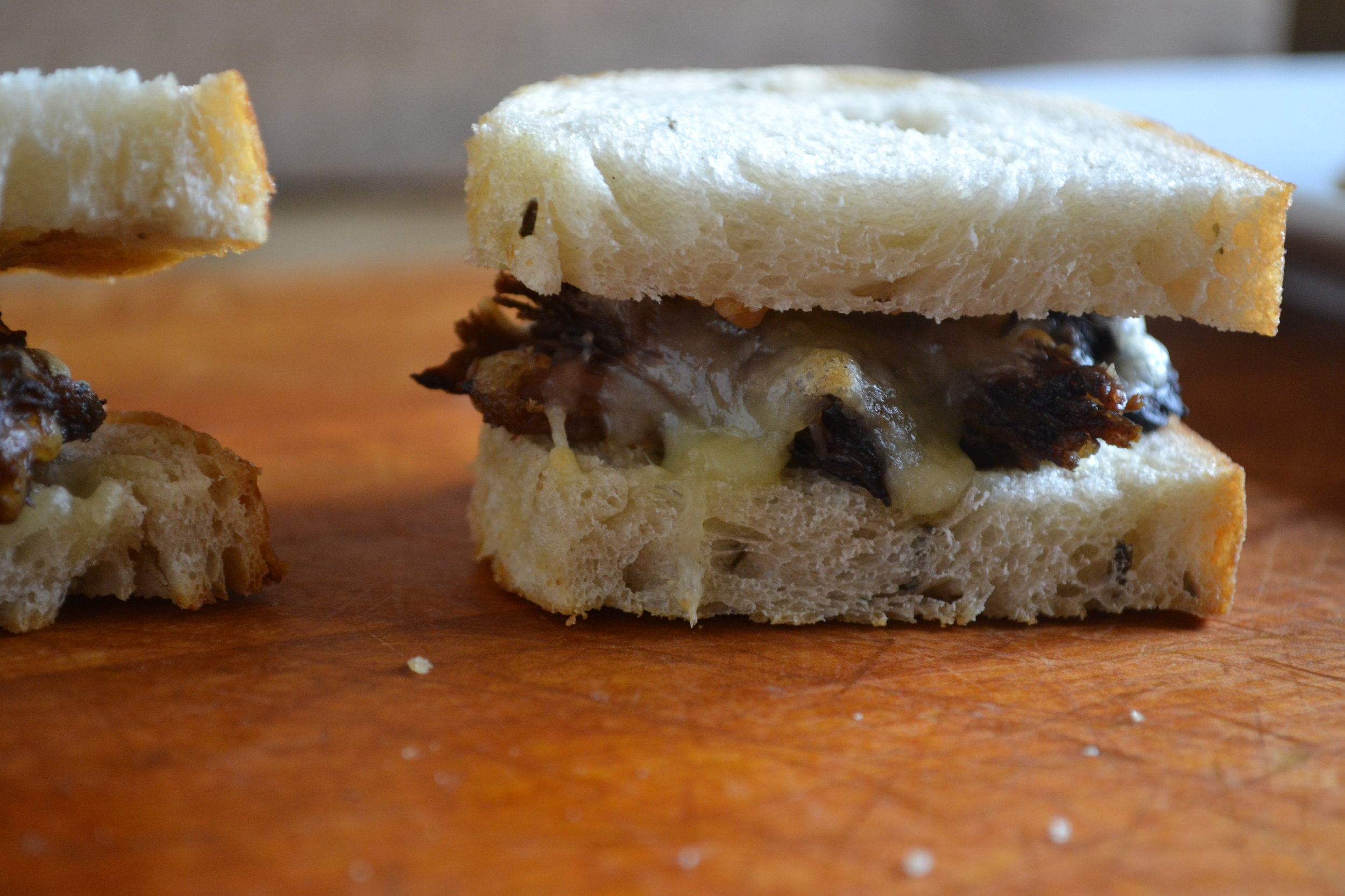Roasted Garlic, Swiss and Pot Roast Slider