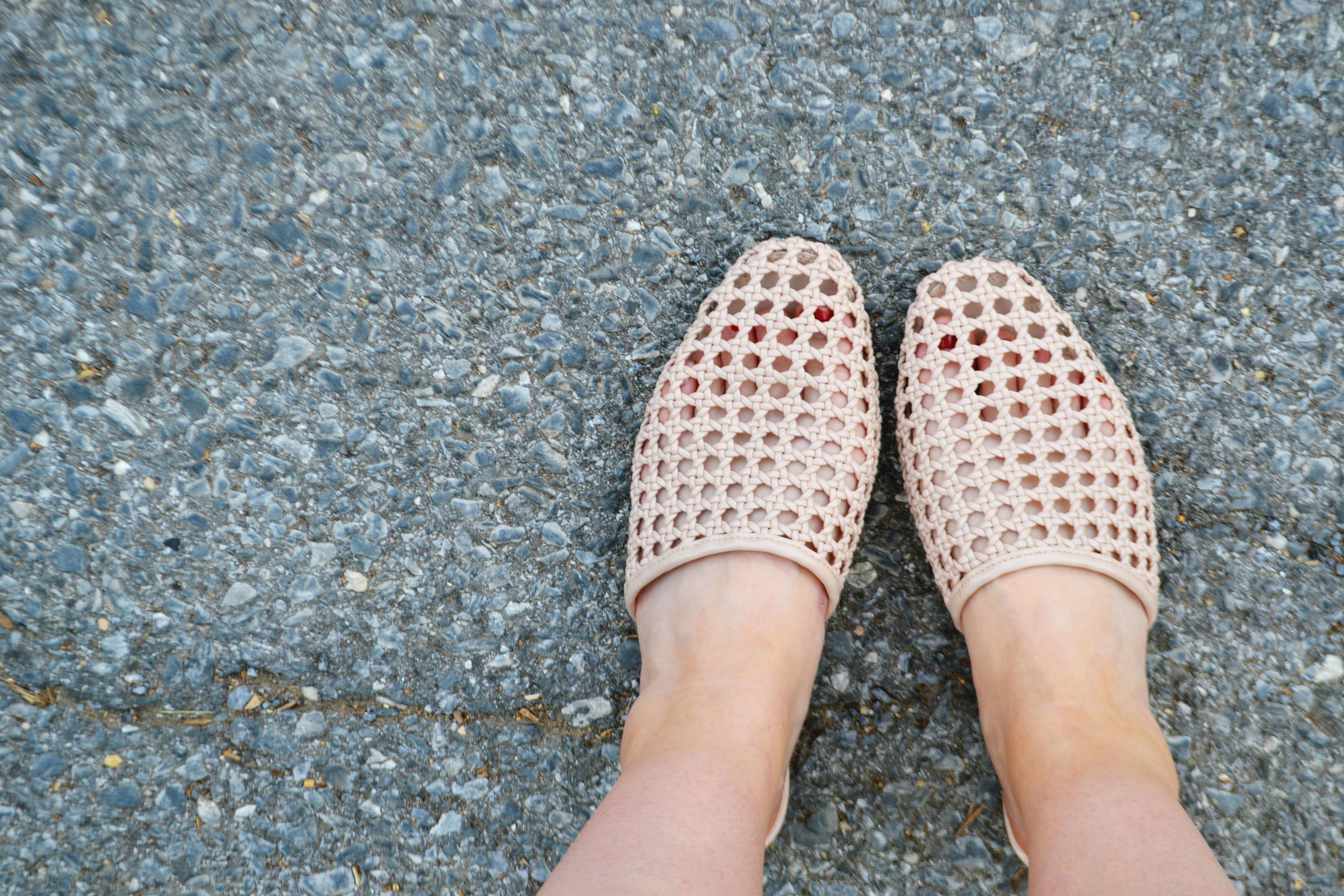 Dressing the Bump - Flower Power - Woven Mules | Maternity Style | BySarahRae.com