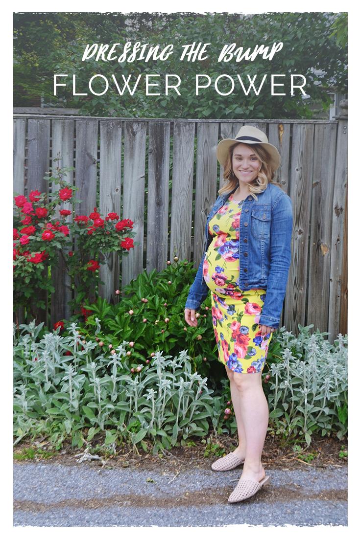 Dressing the Bump - Flower Power | Maternity Style | BySarahRae.com