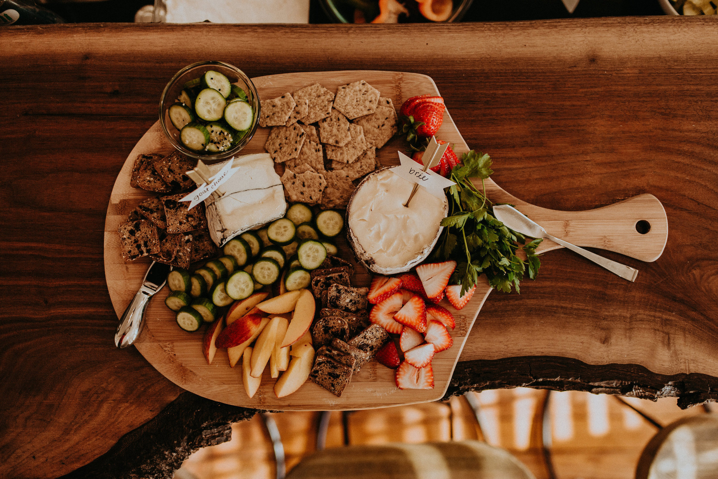 A Summer Cheese Board for a Backyard Dinner Party | BySarahRae.com