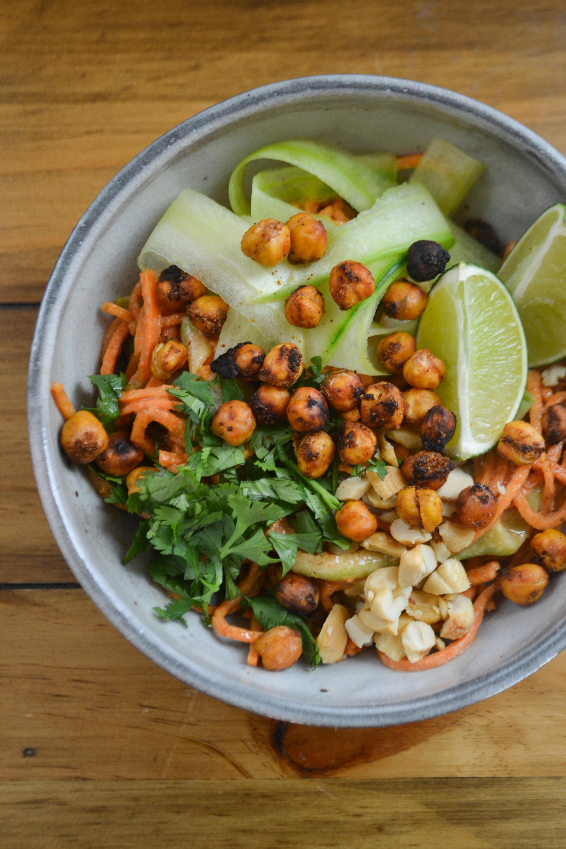 Sweet Potato Pad Thai Salad | Sass Magazine Fall Recipes | BySarahRae.com