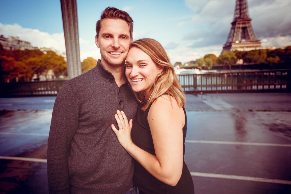 Sarah and Rob in Paris | Eiffel Tower | Travel Blog | BySarahRae.com