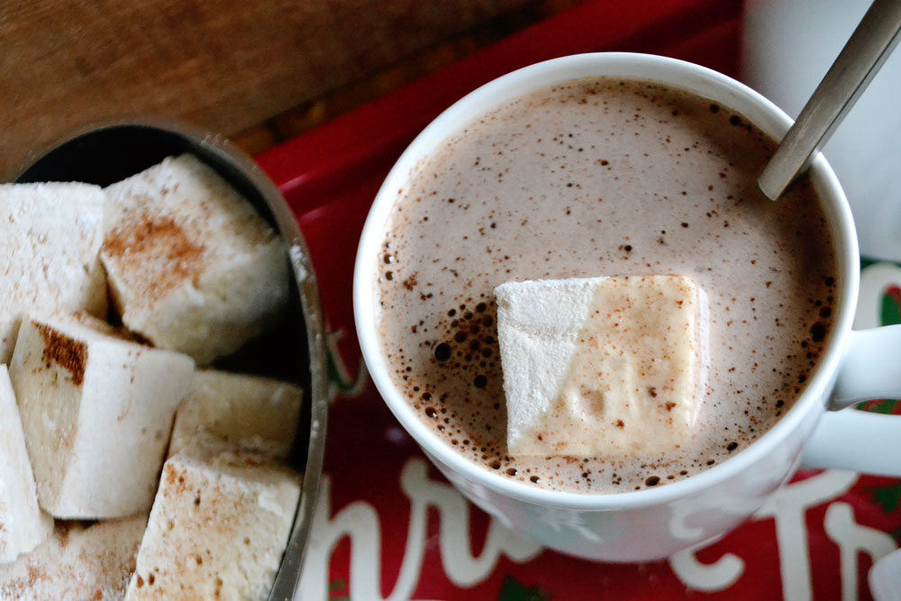 Homemade Eggnog Marshmallows | Holiday, Christmas Ideas | BySarahRae.com