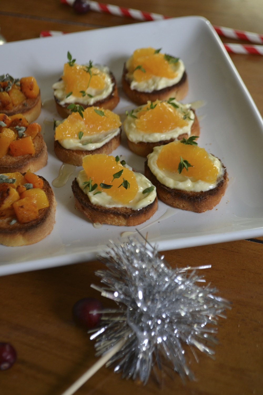 Orange and Brie Crostini | Holiday and Christmas Party Recipe Ideas | BySarahRae.com