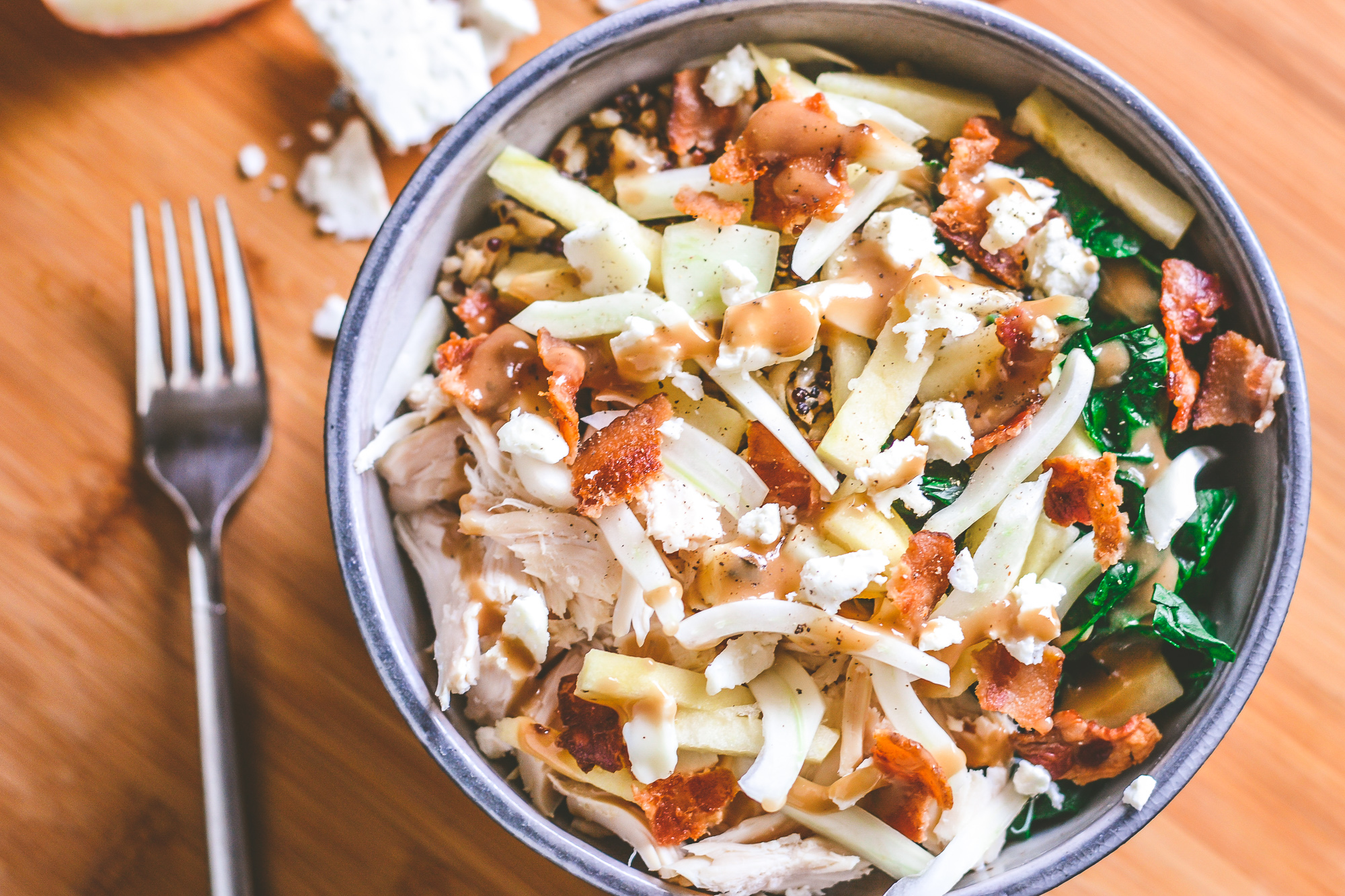 Warm Chicken, Apple and Fennel Power Bowls | Feel Good Food | BySarahRae.com