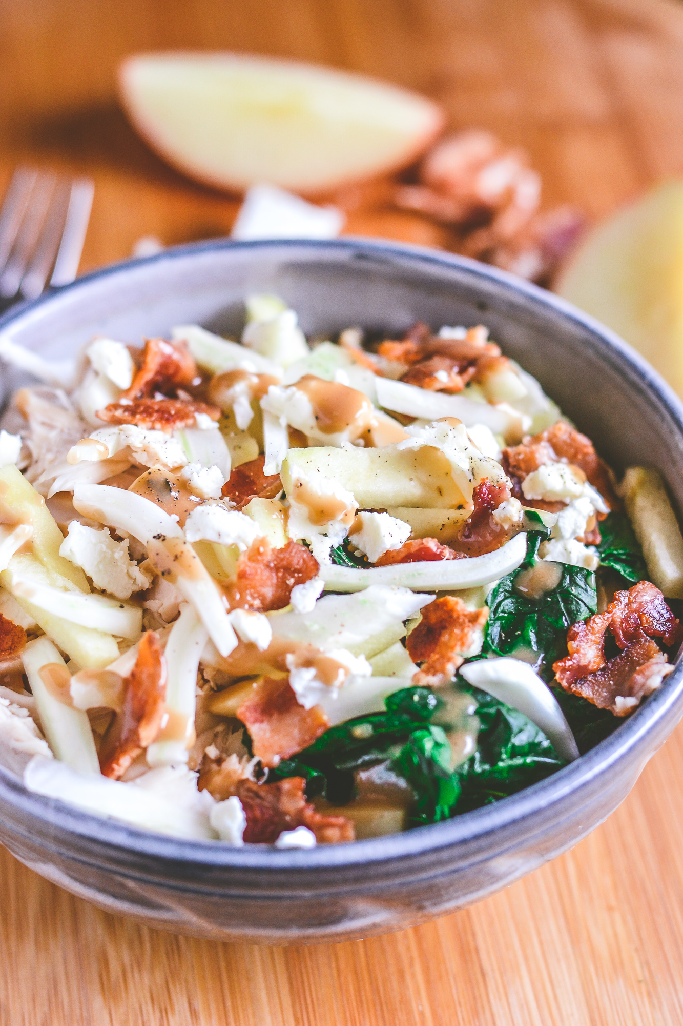 Sweet and Savory Warm Chicken, Apple and Fennel Power Bowls | Healthy Food | Real Food | BySarahRae.com