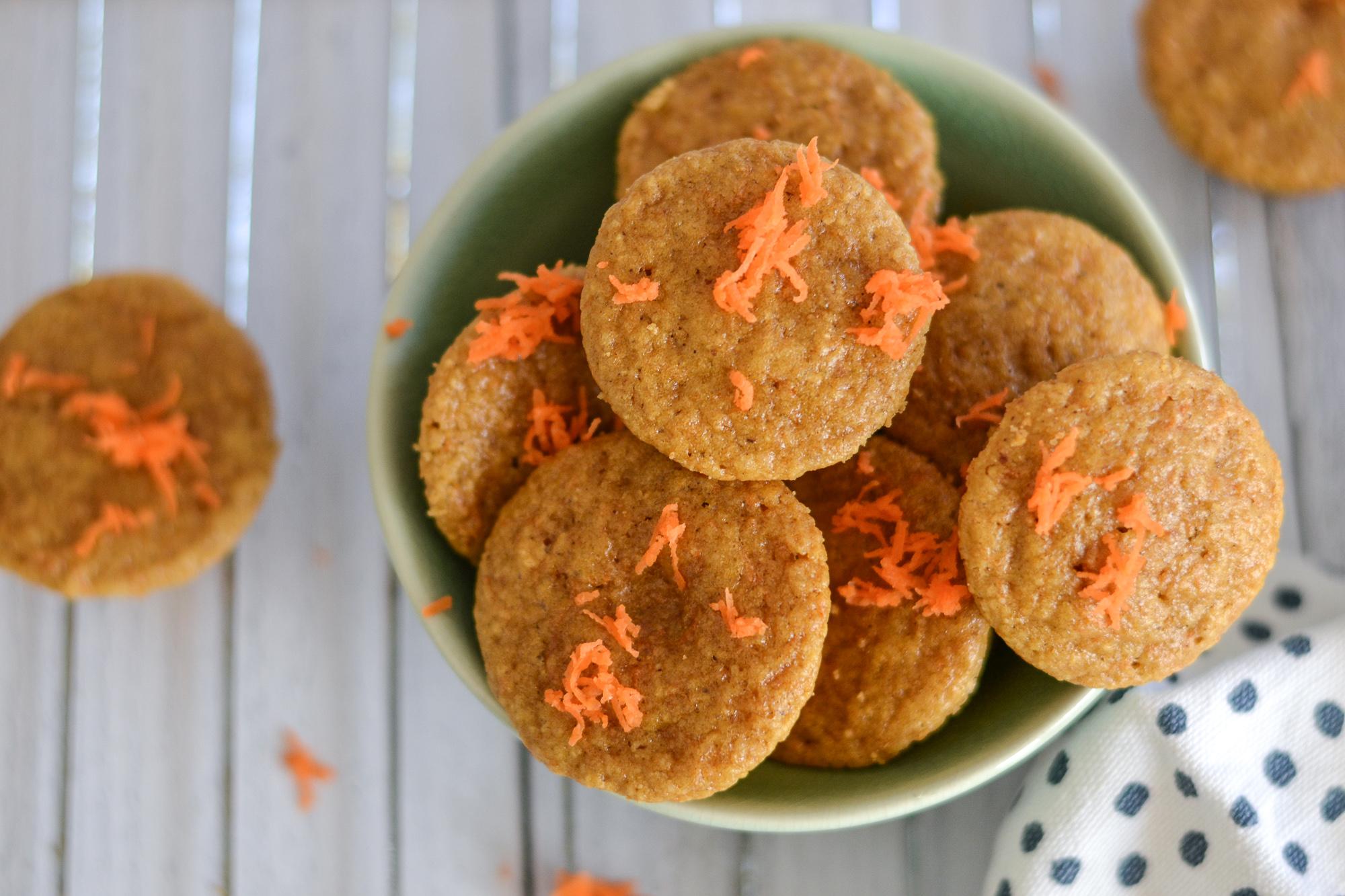 Carrot Cake Pancake Bites with Simple Mills pancake mix | By Sarah Rae
