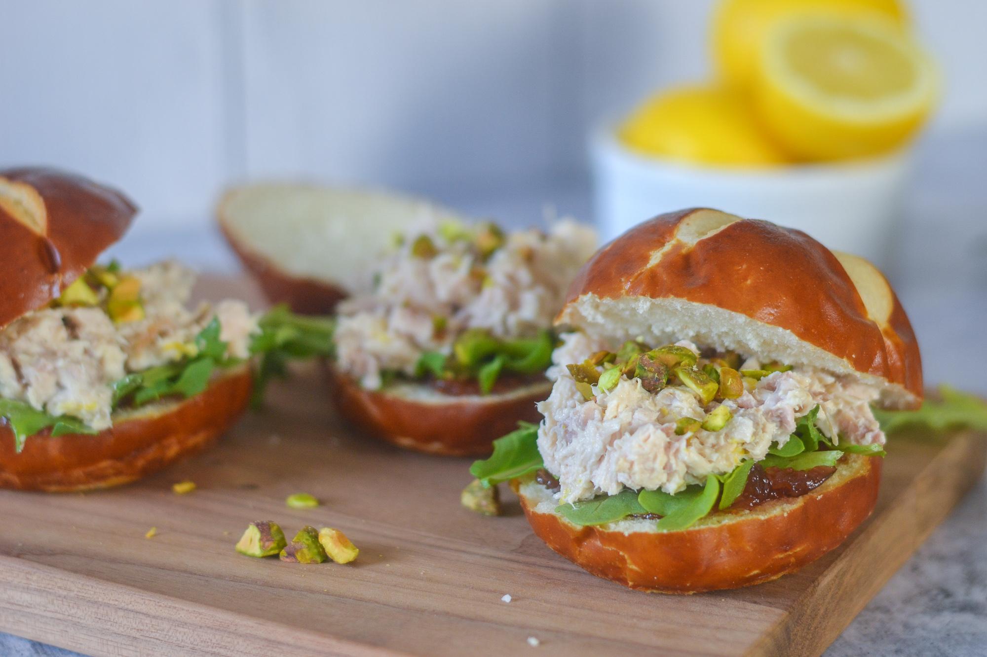 Fig, Lemon and Chicken Salad Sliders | Spring Recipes | BySarahRae.com