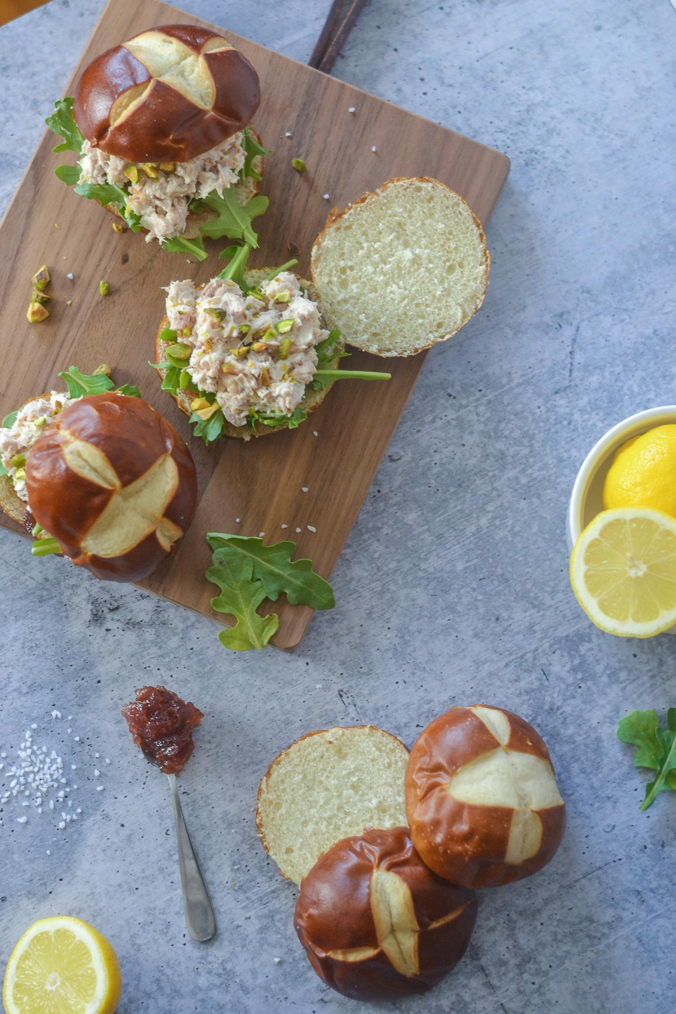Fig and Lemon Chicken Salad Sandwiches | Easter | Mother's Day | Spring | Brunch | BySarahRae.com