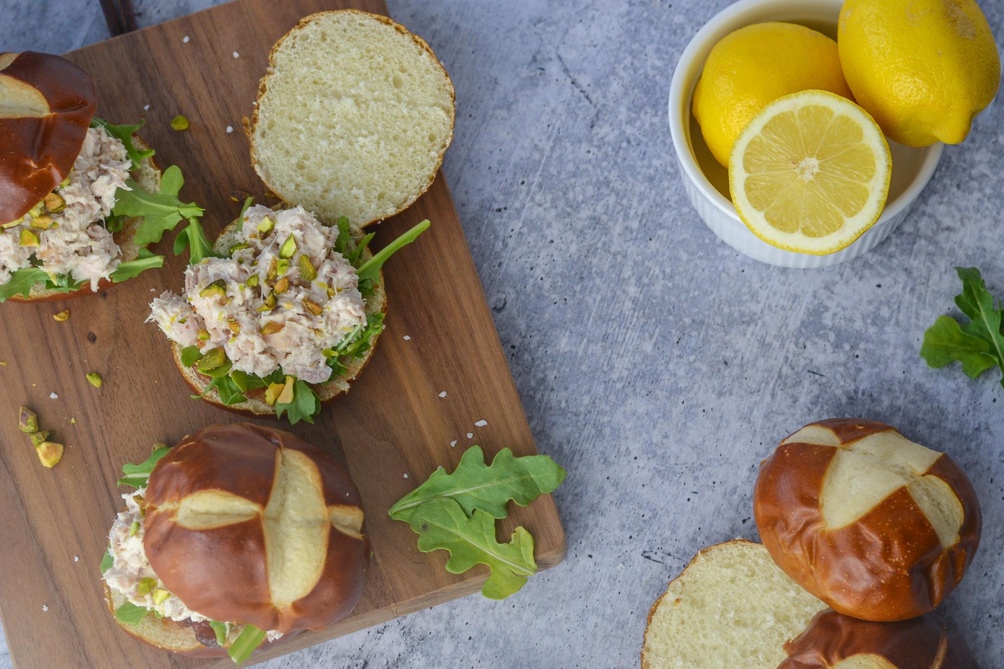 Brunch ready Fig, Lemon and Chicken Salad Sliders | BySarahRae.com