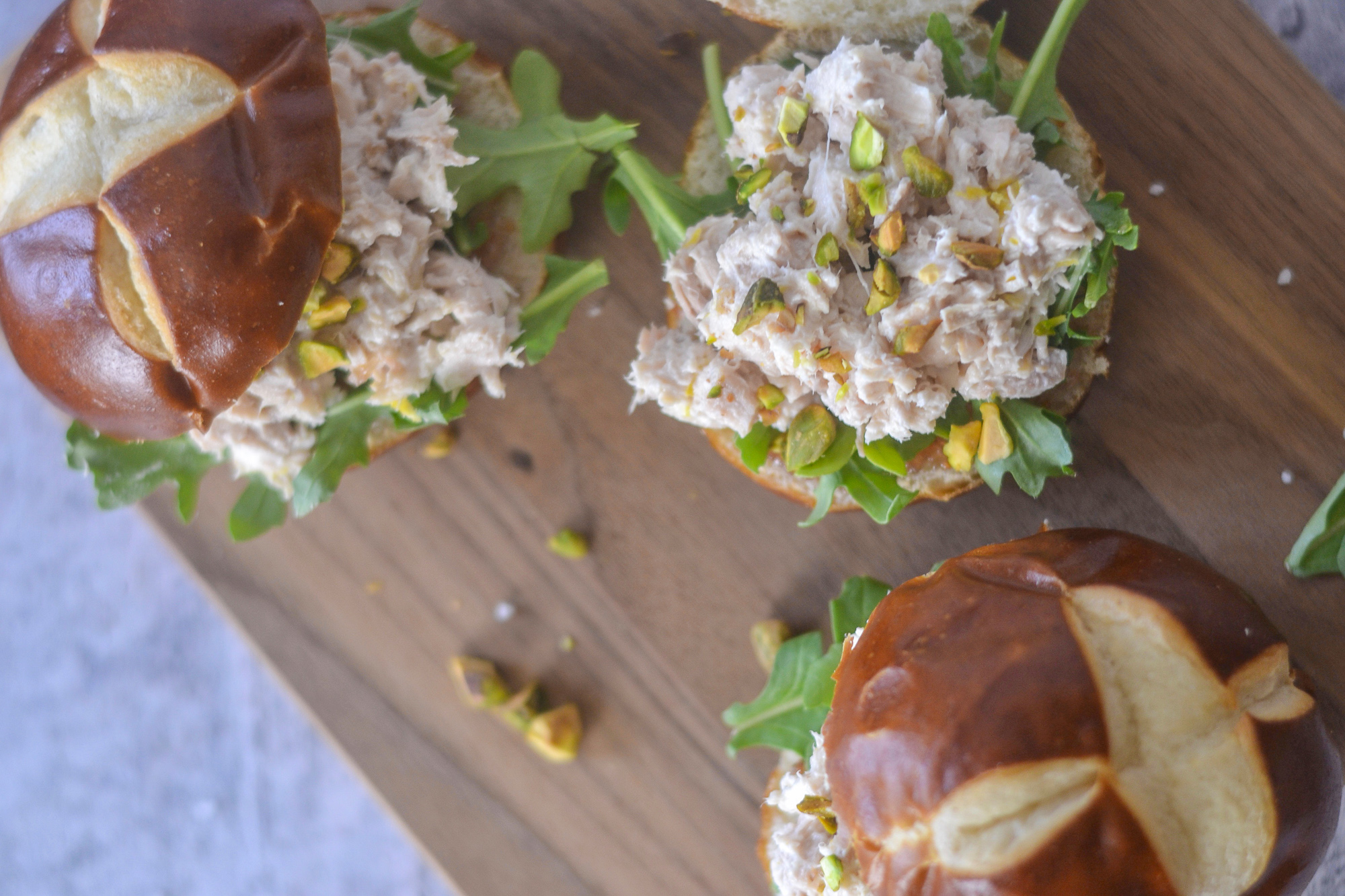 Sweet and Savory Fig, Lemon and Chicken Salad Sandwiches | BySarahRae.com