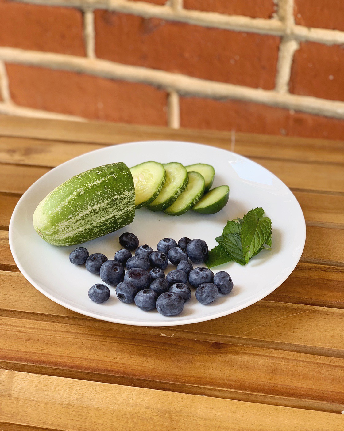 Blueberry cucumber and mint infused water ingredients | BySarahRae.com