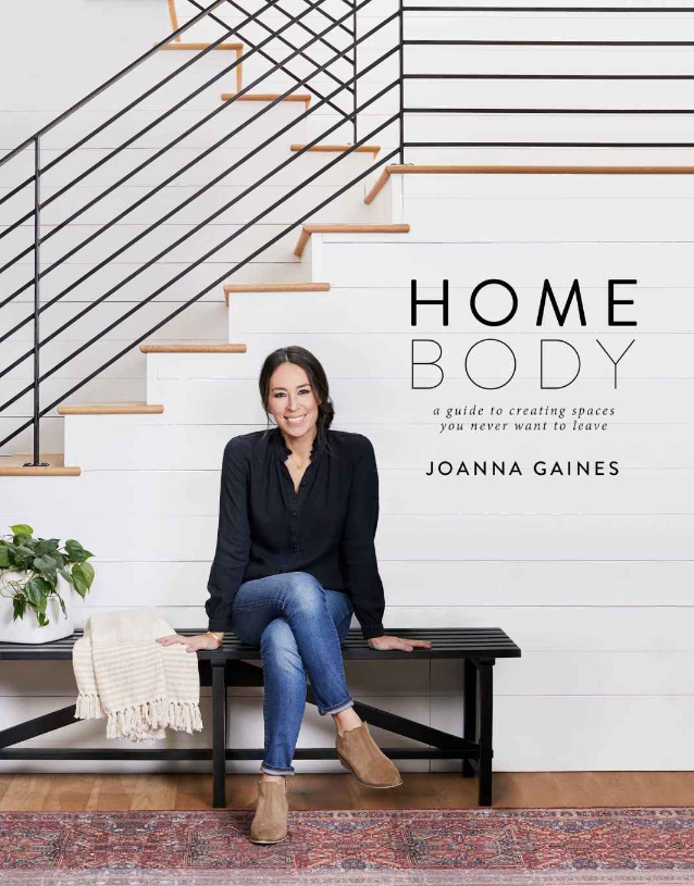 """2. """"Home Body"""" - AUTHOR: JOANNA GAINESWHY WE LOVE IT: Joanna Gaines is all about making sure that the way homes are designed not only focus on beauty but practicality for whatever season of life you are in. She provides tips throughout the book that help you create incredible spaces throughout your home that you will love so much, you'll never want to leave.THE JUICY DETAILS: Like so many Americans, I was captivated by Chip and Joanna Gaines when they first appeared on HGTV's """"Fixer Upper."""" I have since read all of their books they've published including """"The Magnolia Story"""" and """"Capital Gaines"""" and love every single thing they do. What I love about """"Homebody"""" is that it teaches you so much about concepts interior designers have extensive knowledge of and use every day. The beginning of the book gives an overview of different design styles, then dives into how to take different rooms in your home and make them your very own. Joanna provides examples of how each room can still function similarly, no matter what your design style is, from modern to boho to traditional and beyond.WHERE TO BUY: $19.60, Target"""