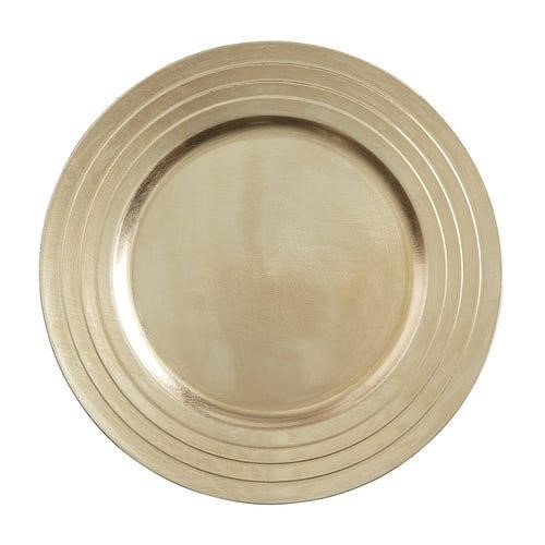 7. Champagne Charger Plate - Add another touch of warmth to your tablescape with these gorgeous champagne chargers. The best part - they're neutral so you can use them year-round with other accent colors.