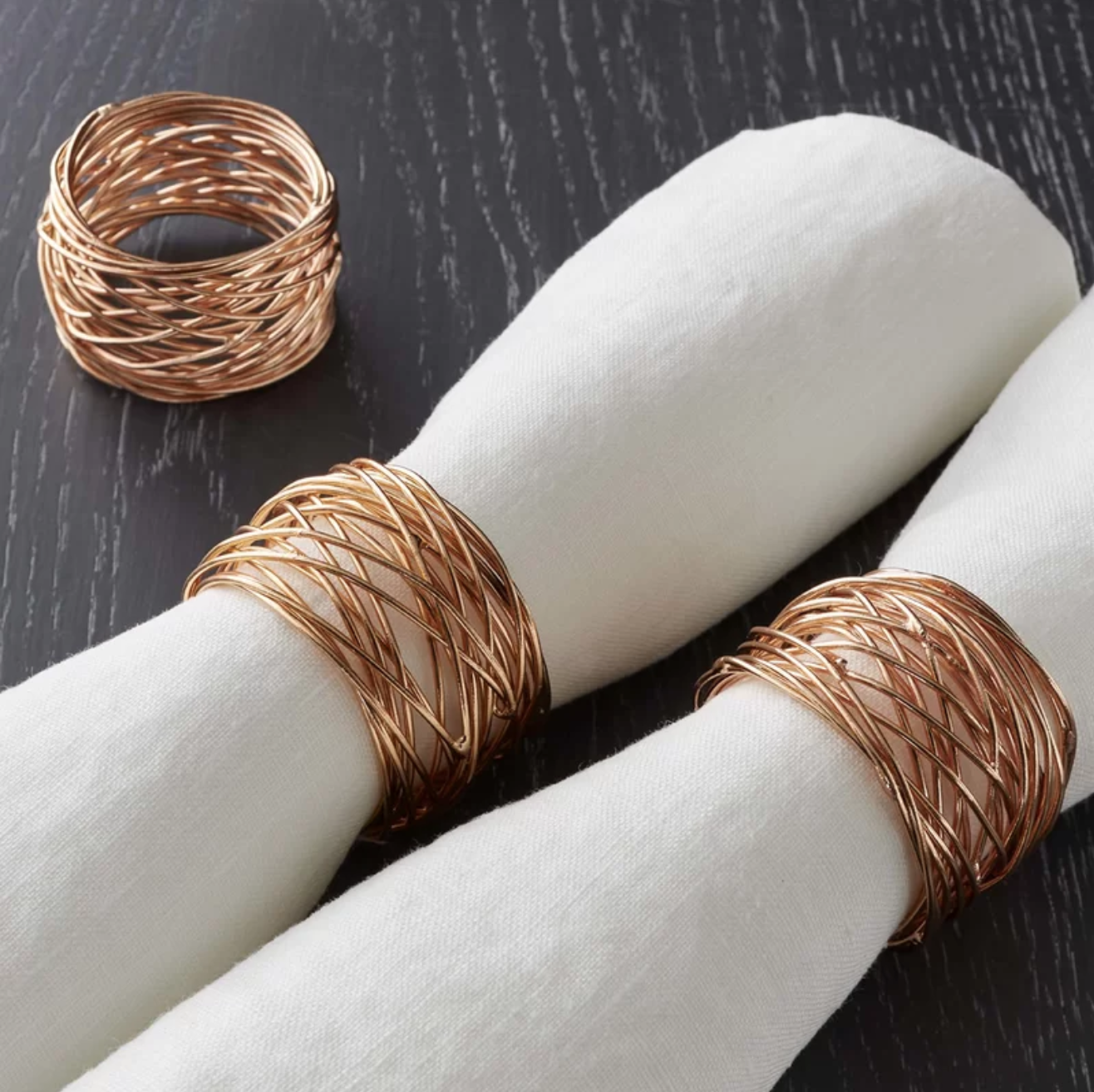 11. Copper Napkin Rings - These napkin rings are neutral so they can be used year-round, but the copper definitely adds warmth to any table setting for that perfect fall look.