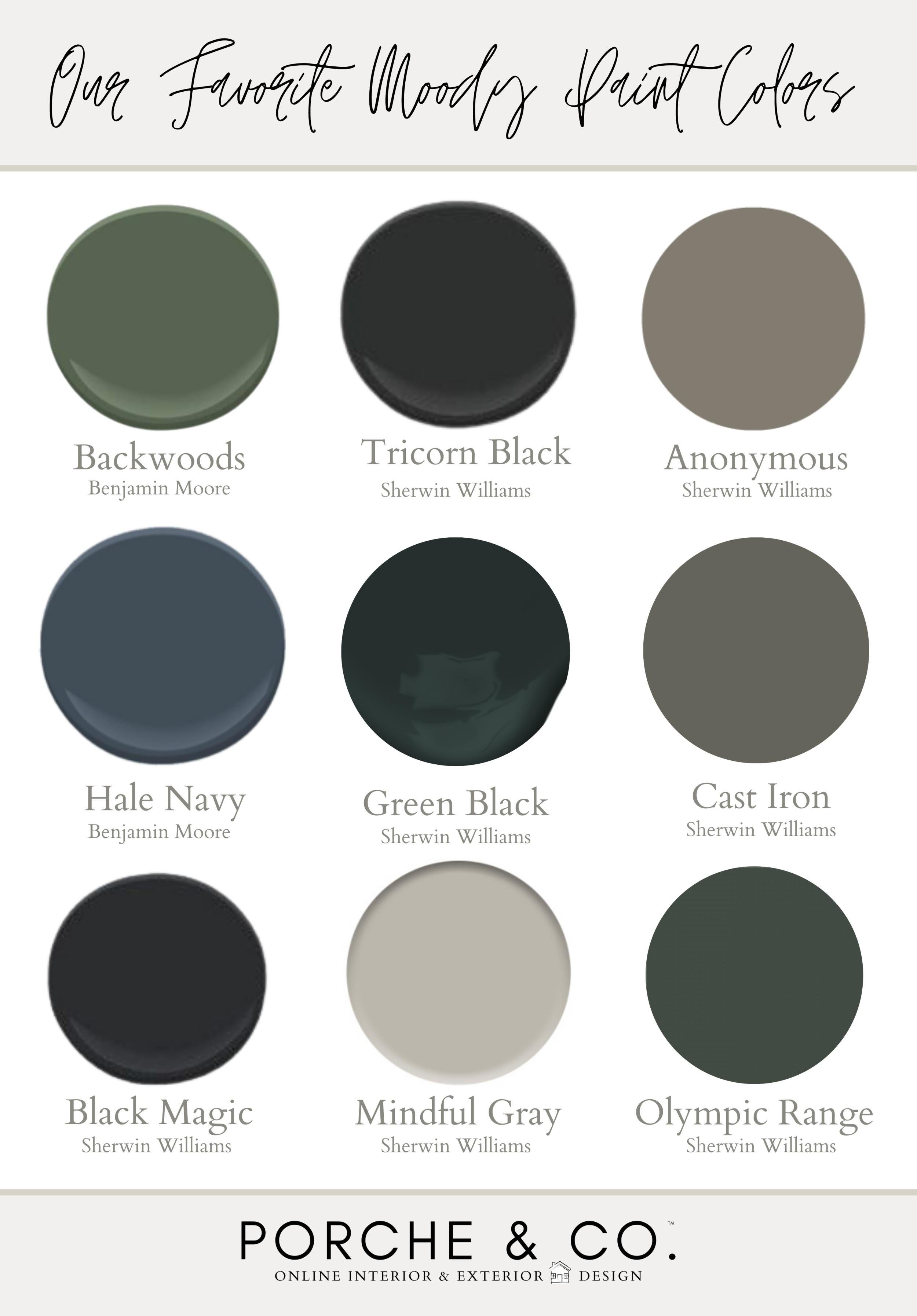 Porche Tips & Tricks Our Favorite Moody Paint Colors — Porche & Co.