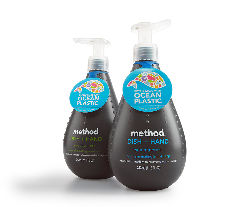 Method Home  checks our boxes for their transparency, eco-friendly philosophy and mindful packaging. They are paving the way for reimagining how plastic can be reused by producing the world's first bottles made with a blend of recovered ocean plastic & post-consumer recycled plastic as discussed  here.