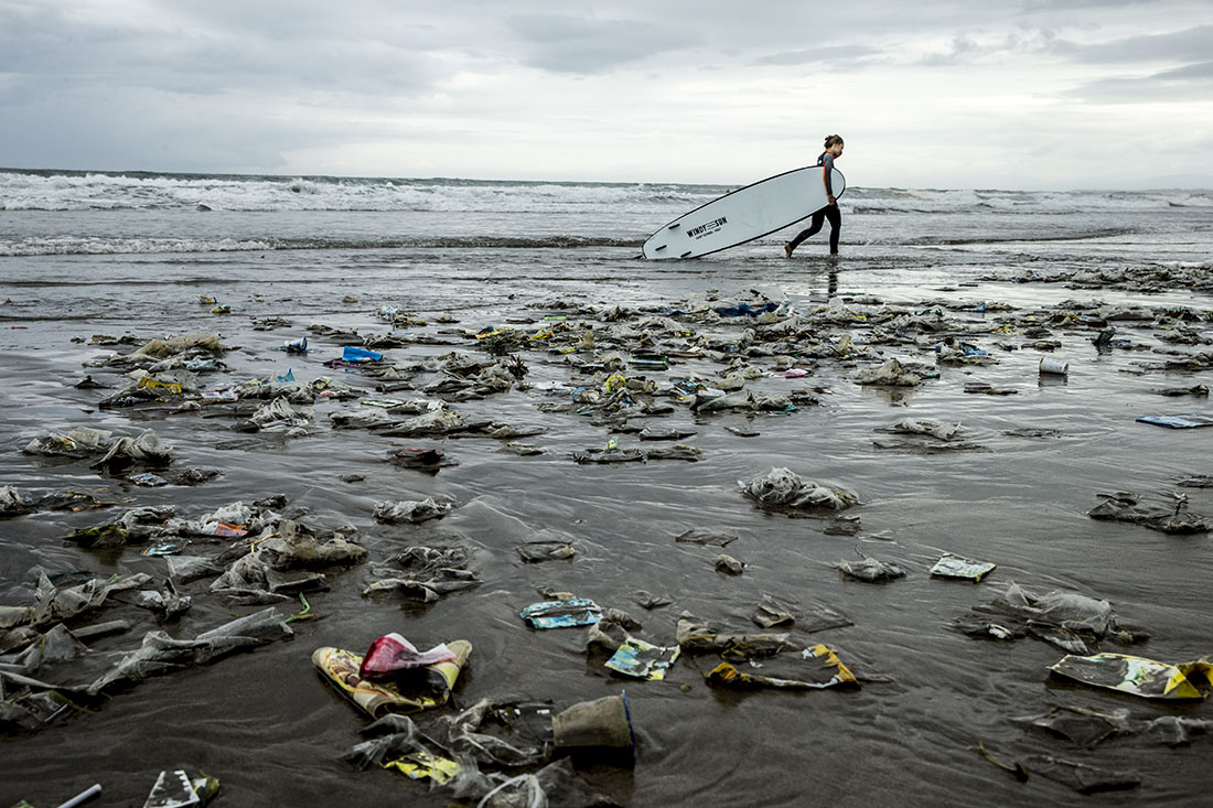 The plastic plague. Photo by Jason Childs via  The Inertia
