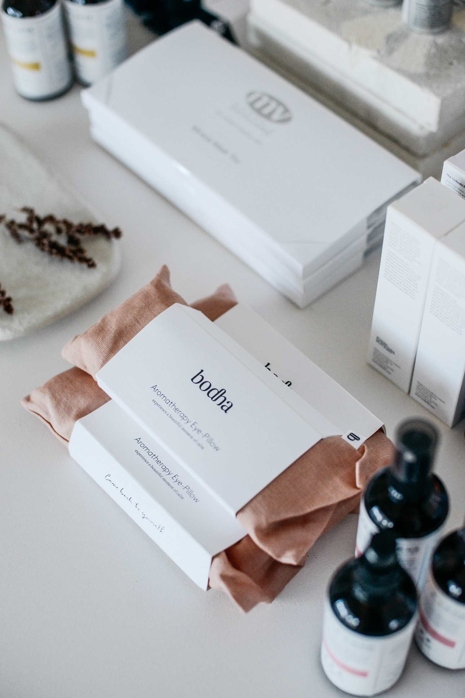 Stacey meticulously selects the products used at Little Company based on the source and quality of ingredients, efficacy of product, cost the the environment and scent.  Creative Direction, Interior Styling and Photography by  Bobby Clark