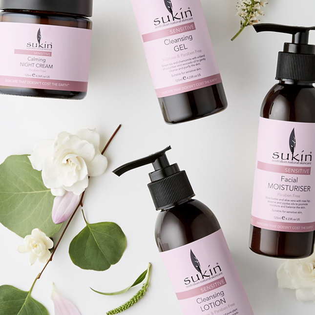 Sukin has a comprehensive range for sensitive skin. Image via  Sukin .