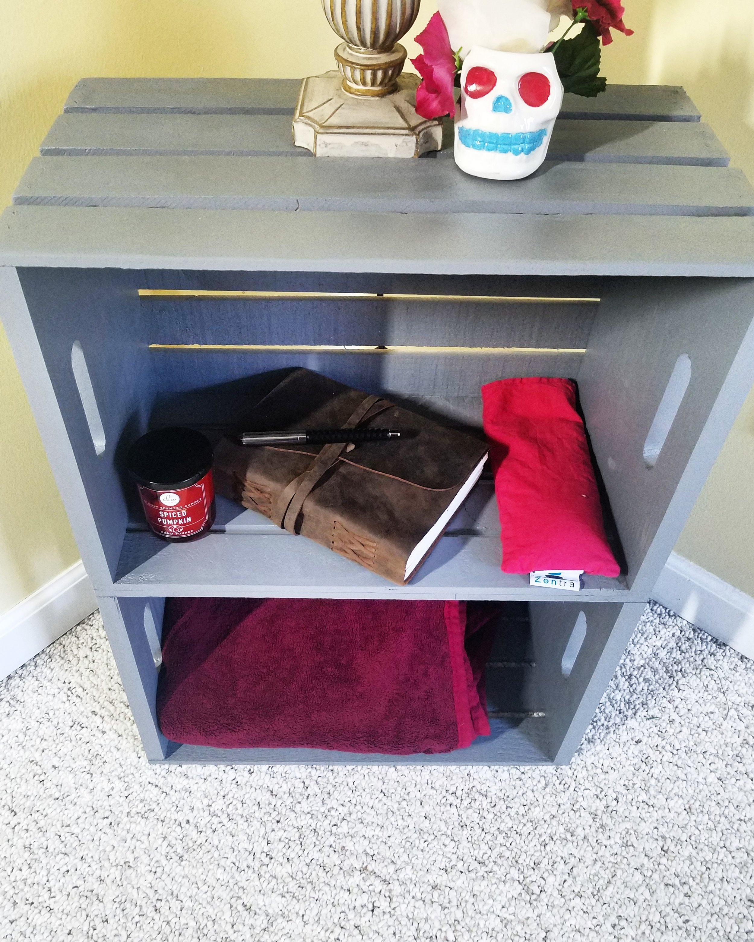 Diy Crate Nightstand Disorderlybliss