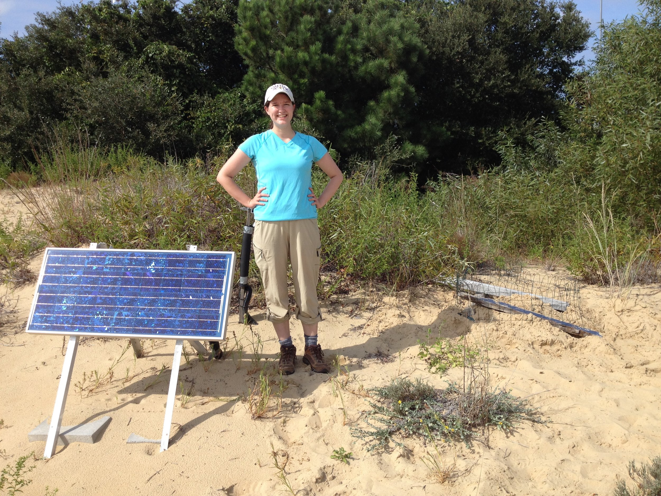 Servicing an ENAM station in the Outer Banks, North Carolina