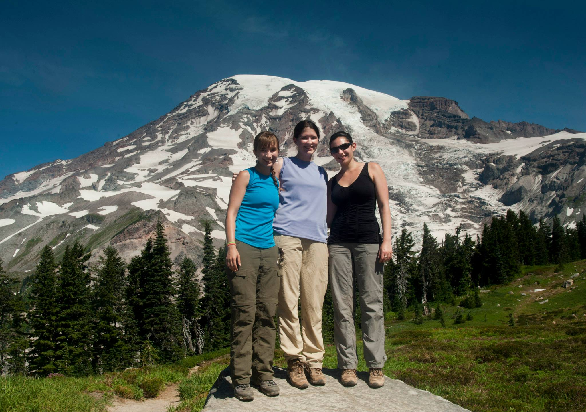 In front of Mt. Rainier, Washington