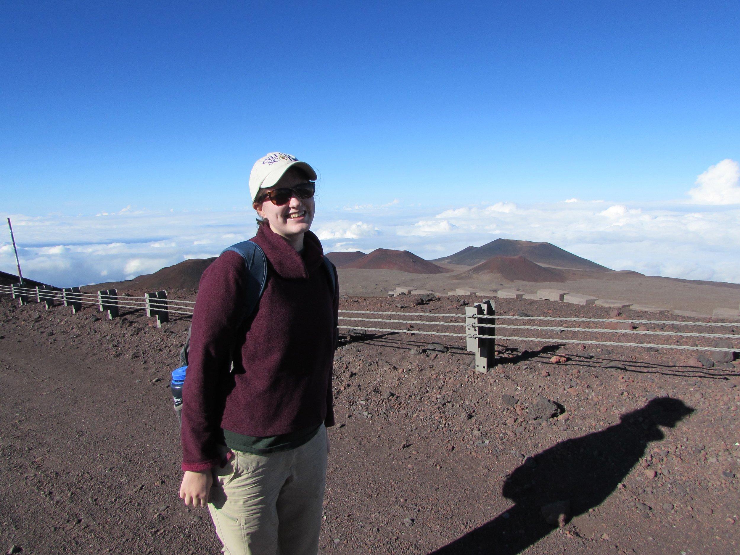 On the summit of Mauna Kea, Hawaii
