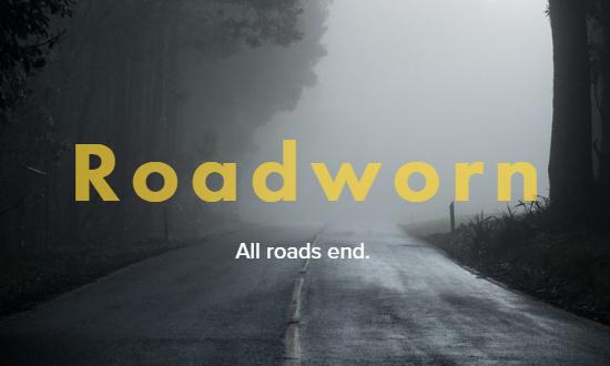 Cover art for the novel Roadworn.