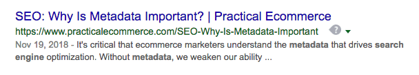 """Screencap of a search result for """"metadata search engine."""""""