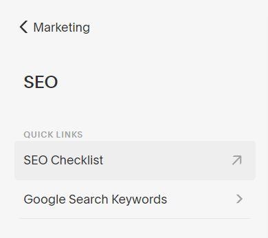 Link to the SEO Checklist? Check!