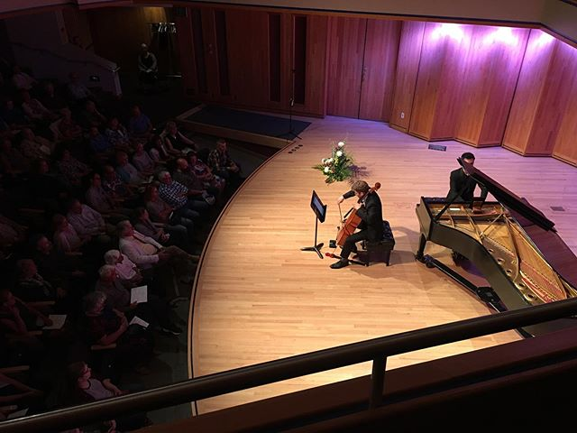 Our second to last concert of the season! Amazing turn out and standing ovation for @piano_mario & @np.cellist 's Rachmaninoff Cello Sonata 🙌 bravo a tutti!